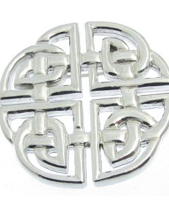 Celtic knotwork brooch in Cornish tin