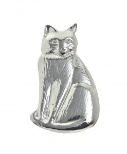 Cat brooch cast in Cornish tin