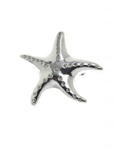 Starfish brooch in Cornish tin