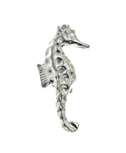 Seahorse brooch cast in Cornish tin