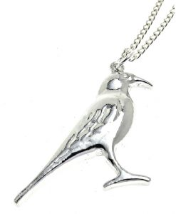 Chough pendant in Cornish tin