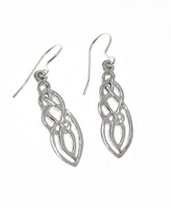 Celtic knotwork earrings cast in Cornish tin