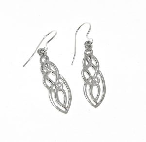 EA10 Celtic knotwork earrings-L