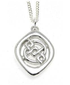 Key pattern pendant in Cornish tin