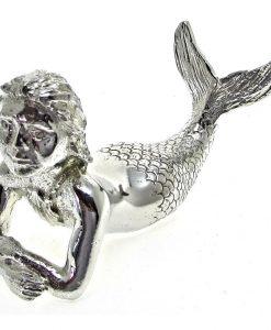 Model of a mermaid cast in Cornish tin