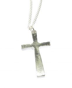 Cross pendant in Cornish tin