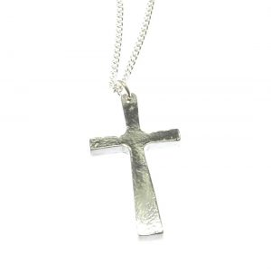 Cross pendant in Cornish tin