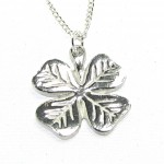 4 leaf clover pendant in Cornish tin