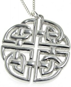 Large celtic knotwork pendant in Cornish tin