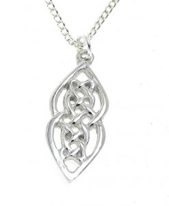 Celtic knot pendant cast in Cornish tin