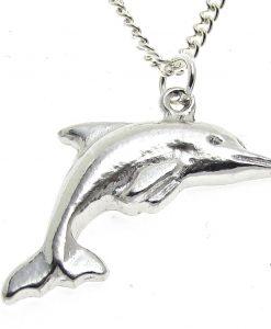 Dolphin pendant cast in Cornish tin
