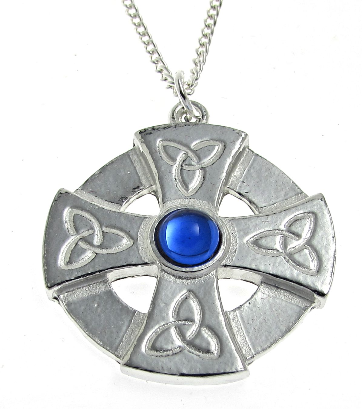 Pendants archives blue hills tin blue stone set celtic cross pendant in cornish tin aloadofball Image collections