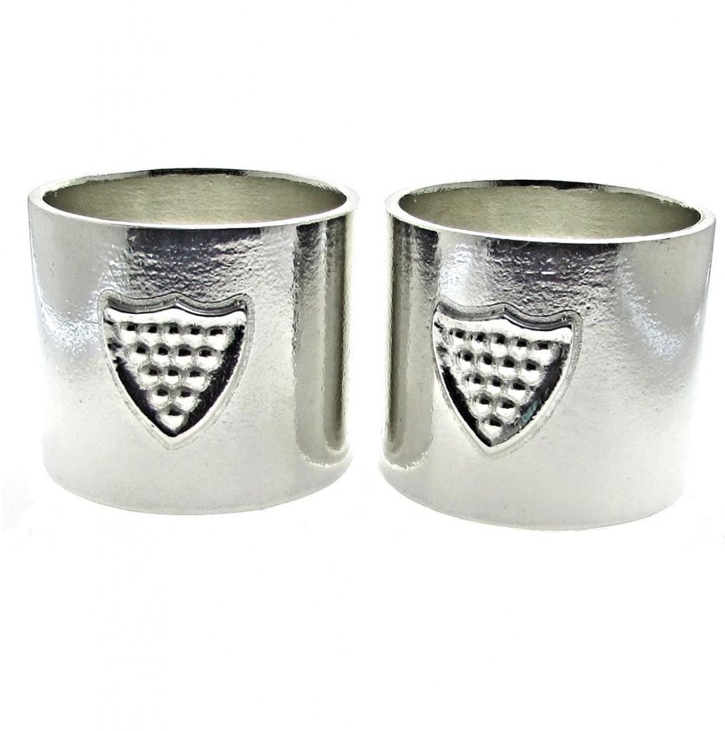 Shield napkin rings