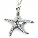Cornish tin starfish pendant
