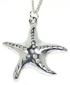 Cornish tin starfish pendant