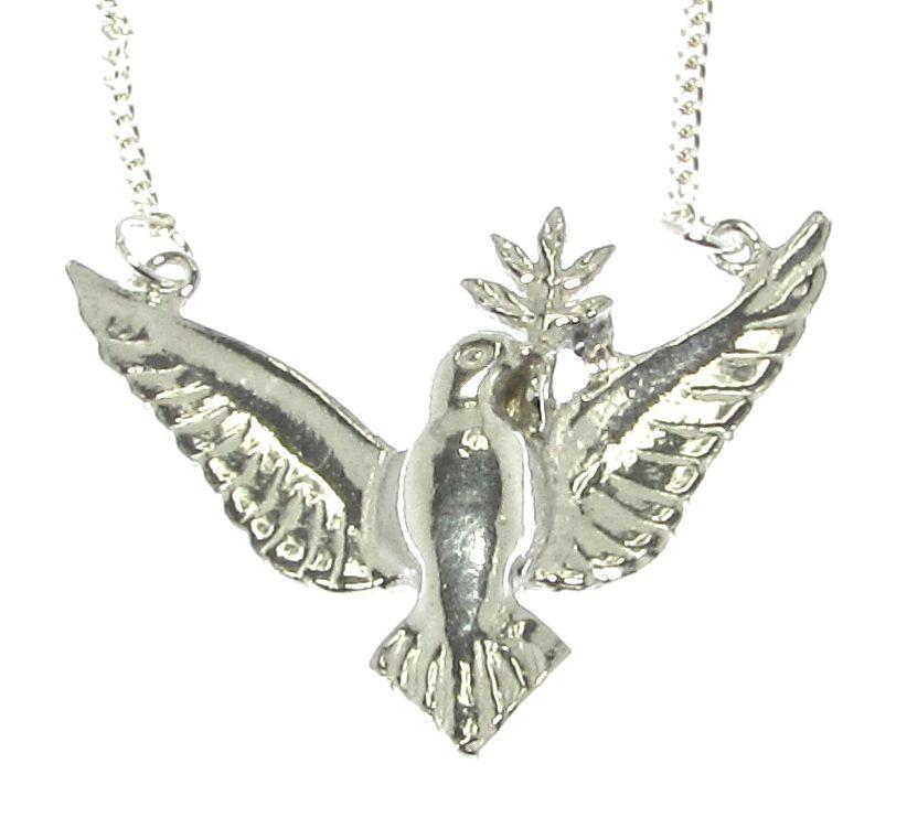 Cornish Chough Silver Necklace