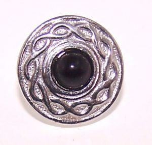 Black agate pin