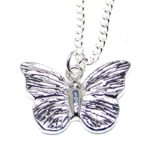 Butterfly pendant cast in Cornish Tin